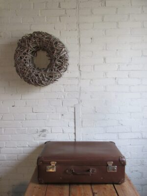 Oude bruine koffer 65.5 x 39 cm