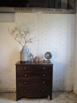 Vintage mahonie ladekast