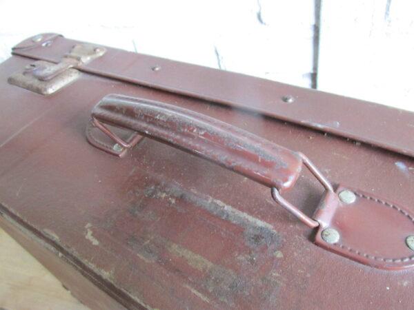 Oude bruine koffer 60 cm x 37cm