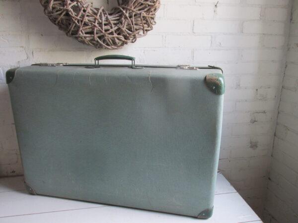 Vintage groene grote koffer 75 x 52 cm