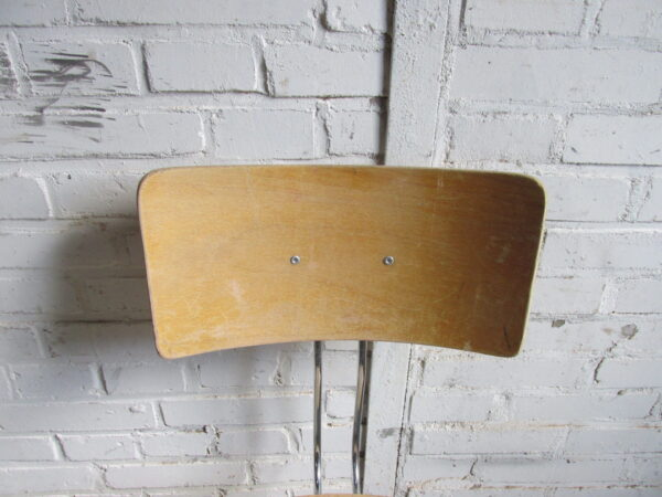 Vintage atelierstoel, draaibaar en in hoogte verstelbaar