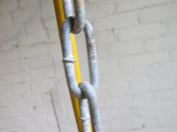 Emaille hanglamp in het groen, een oude