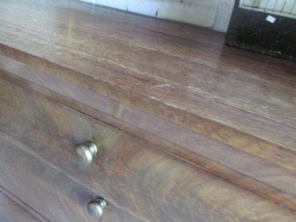 Antieke chiffonaire, 6 ladekast van mahonie