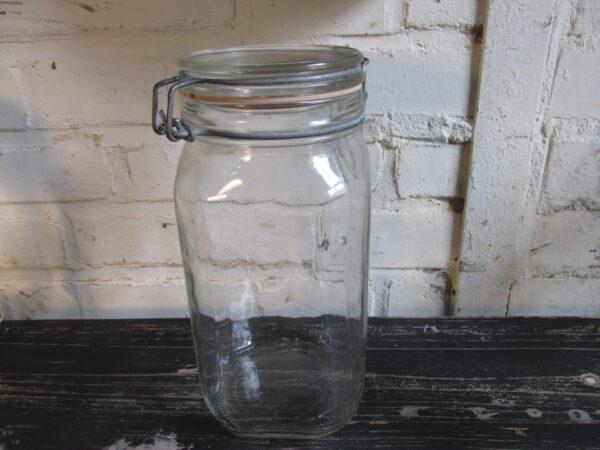 Glazen weckpot met afgeronde hoeken