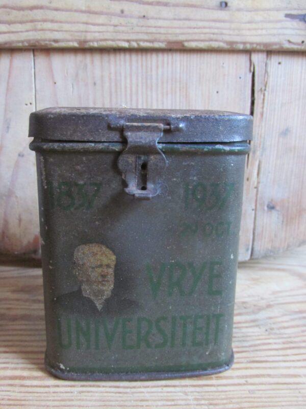 Oud klein blikje 100 jaar vrije universiteit