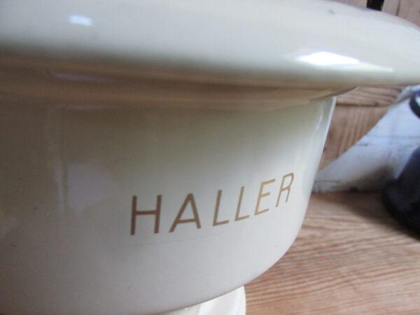 Emaille petroleumstel van Haller 1pitter in crème