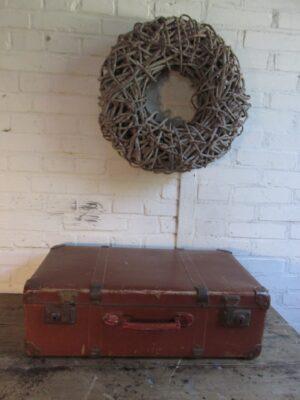 Oude bruine koffer 60 x 36.5 cm
