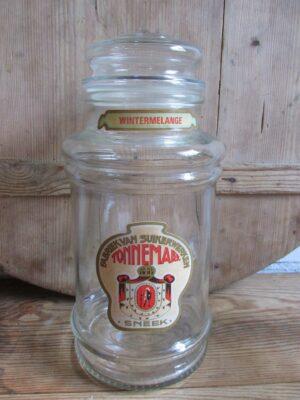 Oude Tonnema glazen snoeppot