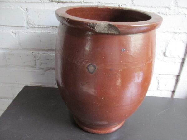 Oude bruine grespot zonder oren