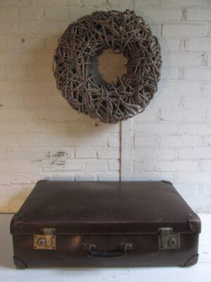 Oude bruine koffer 65.5 x 41 cm
