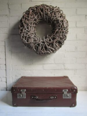 Oude bruine koffer 50.5 cm x 33 cm