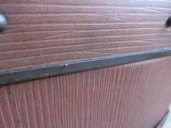 Oude koffer bruin ribbel 50.5 cm x 34.5 cm
