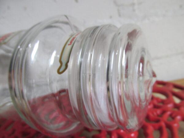 Snoeppot van glas Tonnema in het klein