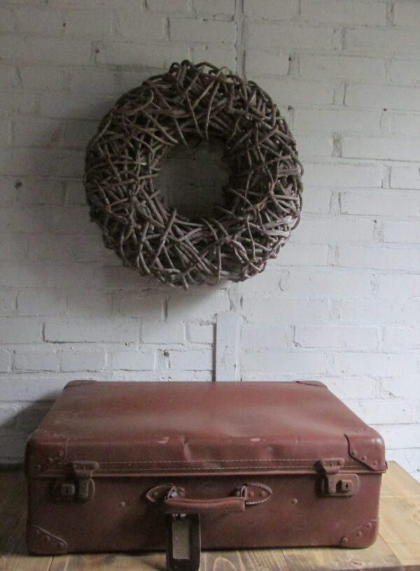 Oude bruine koffer 60 cm x 36.5 cm